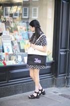 black THE WHITEPEPPER dress - neutral THE WHITEPEPPER bag
