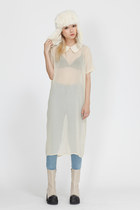ivory THE WHITEPEPPER boots - eggshell THE WHITEPEPPER dress