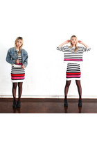 blue THE WHITEPEPPER jacket - THE WHITEPEPPER skirt