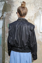 Black Leather Jacket THE WHITEPEPPER Jackets