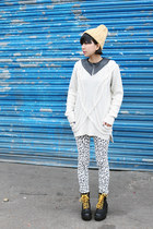 White Leopard Print THE WHITEPEPPER Jeans