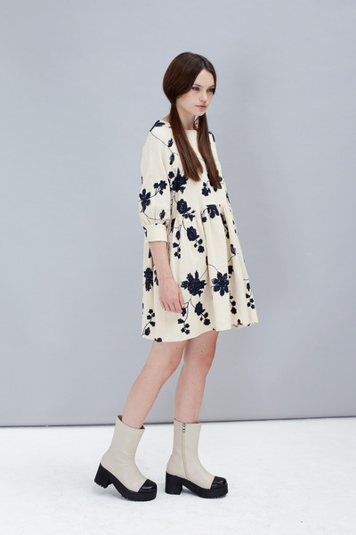 high rise THE WHITEPEPPER boots - THE WHITEPEPPER dress