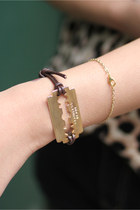Gold Metal THE WHITEPEPPER Bracelets