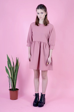 black THE WHITEPEPPER boots - bubble gum THE WHITEPEPPER dress