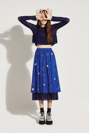 blue THE WHITEPEPPER skirt - black THE WHITEPEPPER socks