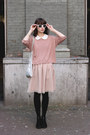 Black-h-m-shoes-light-pink-river-island-dress-pink-h-m-sweater-light-blue-