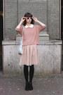 Black-h-m-shoes-light-pink-river-island-dress-pink-h-m-sweater-light-blue-