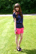 hot pink New York & Company shorts - purple INC for Macys top