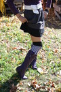 Purple-old-navy-top-deep-purple-knee-high-boots-thrifted-boots