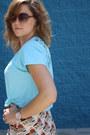 Aquamarine-thrifted-shirt-tawny-with-birdies-thrifted-skirt