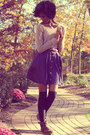 Target-skirt-dsw-boots-american-eagle-sweater-forever-21-socks