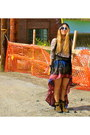 Ebay-dress-steve-madden-boots-brandy-la-sweater-fringe-forever-21-vest