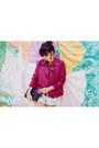 Ruby-red-forever-21-jacket-light-blue-boyfriend-pacsun-shorts-zara-blouse