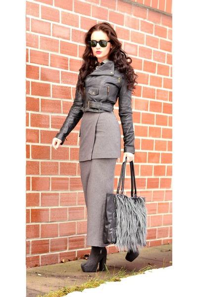 Hennes skirt - Terranova jacket - Stradivarius bag - Ray Ban sunglasses