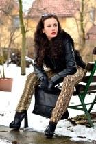 Zara pants - Vila jacket - Stradivarius bag - Topshop heels