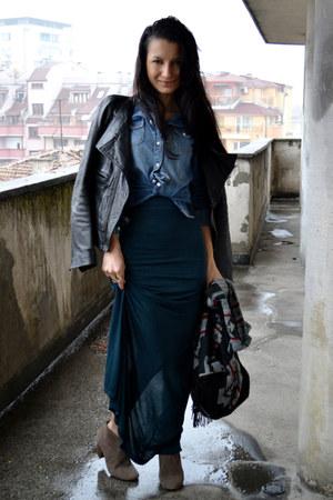 Diesel jacket - Mango shirt - Topshop skirt
