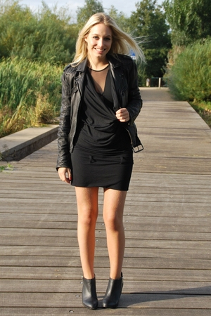 Kani Ladies dress - H&M Trend top - zara exclusive jacket - H&M boots
