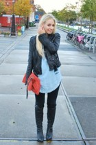 Zara blouse - Ebay leggings - graffity boots - Zara accessories - zara exclusive