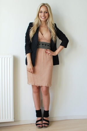 dress - H&M blazer - asos accessories - Zara accessories