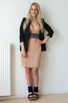 dress - H&M blazer - asos accessories - Zara accessories