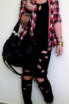 forever 21 jeans - forever 21 shirt - Urban Outfitters accessories