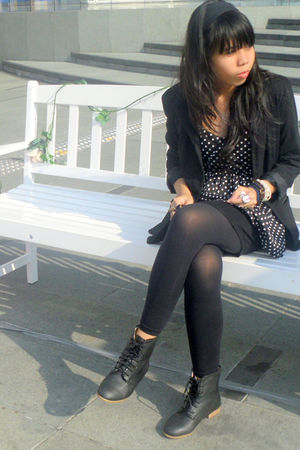 Forever 21 top - Mango blazer - Mango tights - skirt -