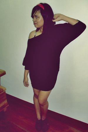 black dress - purple