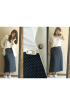 thrifted skirt - thrifted vintage blazer