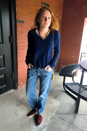 vince sweater - Current Elliott jeans - Marc by Marc Jacobs sneakers