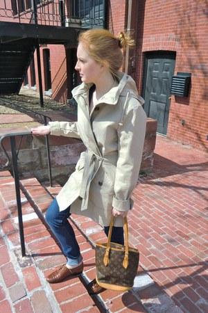 Louis Vuitton bag - Gap coat - vintage flats