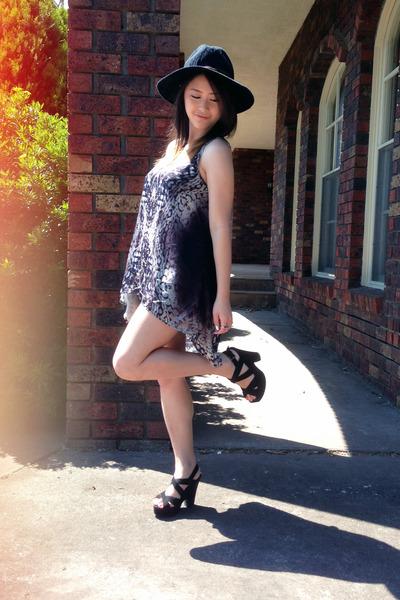 black tony bianco shoes - black hat