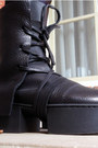 Black-leather-trippen-boots-black-disco-american-apparel-pants