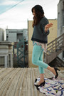 Black-pumps-heels-john-fluevog-shoes-sky-blue-pastel-cropped-free-people-jeans