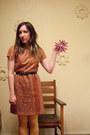 Brick-red-lace-vintage-dress