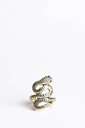 dark khaki snake ring