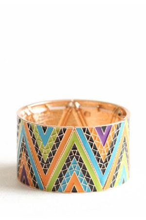 sky blue pattern bracelet