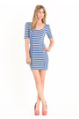 Blue Striped Dresses
