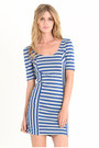 Blue-striped-dress