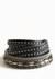 black studded bracelet