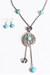 silver aztec turquoise necklace