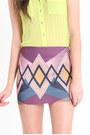 Purple Printed Skirts