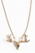 gold antler necklace