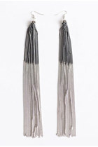 silver ombre earrings