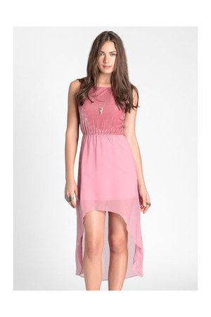 bubble gum high low dress