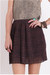 maroon pleated chiffon skirt