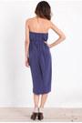 Navy Strapless Dresses