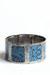 blue reptile print bracelet