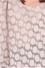 Beige Crochet Print Tops