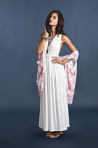 ivory maxi threadsence dress - ivory kimono threadsence cape