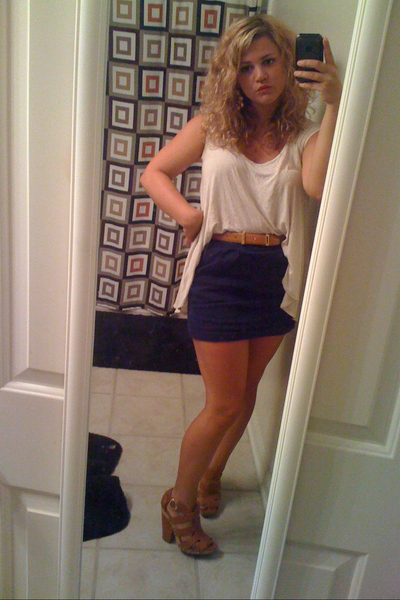 Urban Outfitters shirt - Urban Outfitters skirt - Vince Camuto shoes